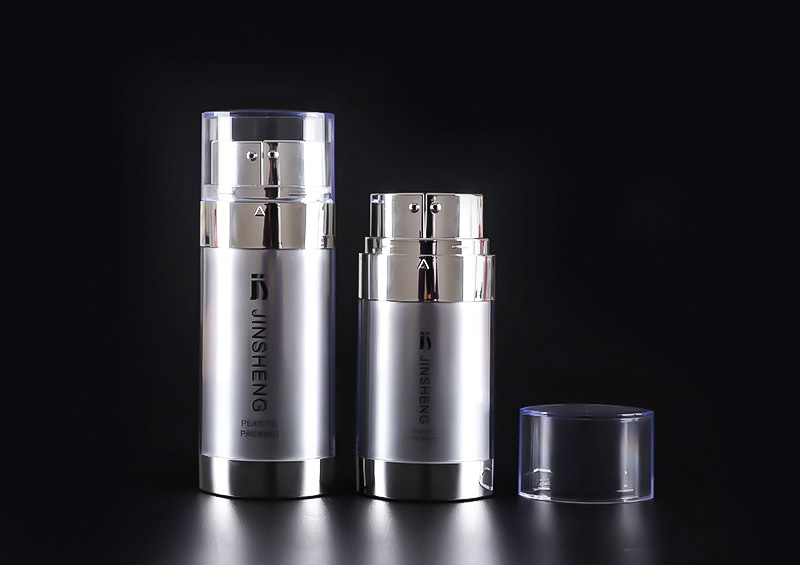 15ml 30ml BB Cream Plastic Dual Chamber Pump Cosmetic Airless Bottle